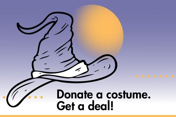Donate a costume. Get a deal!