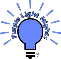 purple light nights logo